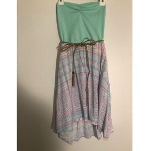 Strapless Aztec dress